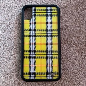 iPhone XR wildflower plaid case!!